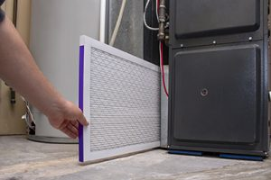 Ocean county furnace repair number one tip is to change your furnaces air filter like is being shown in this image